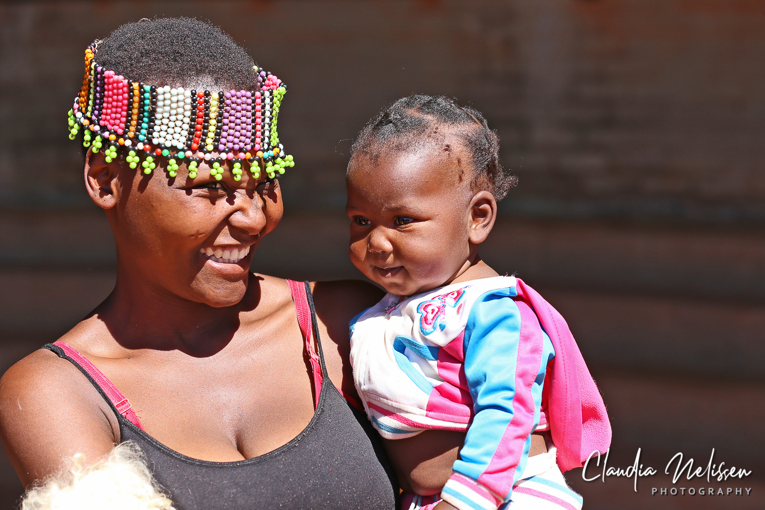 Zulu woman with her child